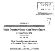 Document Preview Image for Edwards (Edwin) v. Healy (Marsha), 415 U.S. 911 (1974). Appendix