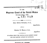 Document Preview Image for Edwards (Edwin) v. Healy (Marsha), 415 U.S. 911 (1974). Motion