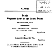 Document Preview Image for Edwards (Edwin) v. Healy (Marsha), 415 U.S. 911 (1974). Appellant's Brief