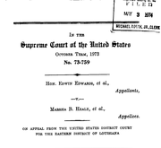 Document Preview Image for Edwards (Edwin) v. Healy (Marsha), 415 U.S. 911 (1974). Amicus Brief