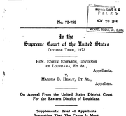 Document Preview Image for Edwards (Edwin) v. Healy (Marsha), 415 U.S. 911 (1974). Supplemental Brief