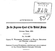 Document Preview Image for Weinberger v. Wiesenfeld, 420 U.S. 636 (1975). Appendix