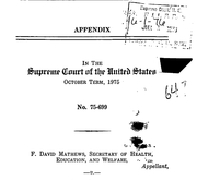 Document Preview Image for Joseph A. Califano, Jr., Secretary of Health, Education, and Welfare, Appellant, v. Leon Goldfarb., 430 U.S. 199 (1977). Appendix