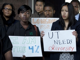 Supporters of the University of Texas Admissions Policy for Minorities