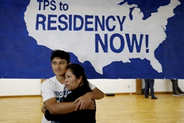 An Immigrant from El Salvador with Temporary Protected Status With Her Son, Born in the US