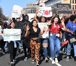 Students March in Washington, DC, against Gun Violence