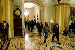 House Impeachment Managers Walk to the Senate