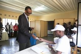 Rwandan President Paul Kagame Votes in Kigali, as He Seeks Reelection