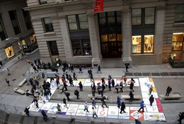 Citizens United Protests Outside Of The New York Stock Exchange
