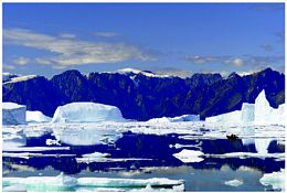 In recent years, scientists have observed rapid melting in Greenland due to global warming.