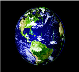 NASAs Ice, Cloud and Land Elevation Satellite (ICESat) provided this 3-D graphic view of Earth in...