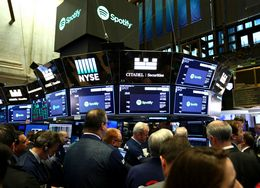 Spotify's Public Offer Debuts At The NYSE In New York