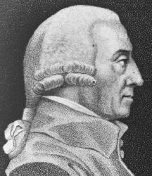 An engraving of Adam Smith.