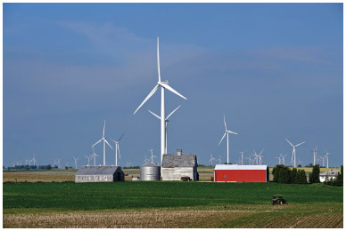 The Fowler Ridge Wind Farm, with more than 200 wind energy turbines, will eventually generate enough...